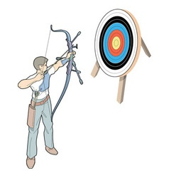 Shot With Arrow vector image vector image