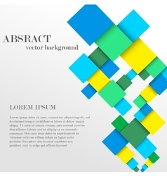 Abstract geometric shape from diamonds vector