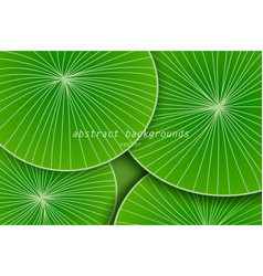 Abstract green leaf art pattern vector