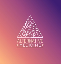 Alternative medicine logo design template vector