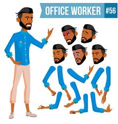 Arab office worker thawb thobe ghutra vector