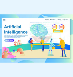 artificial intelligence website part shows info vector image