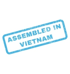 Assembled In Vietnam Rubber Stamp vector image