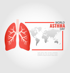 asthma day vector image