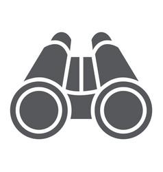 Binoculars glyph icon optical and zoom vector
