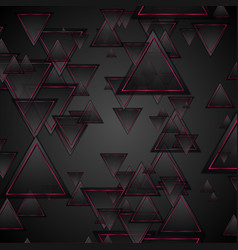 black and purple triangles abstract geometric vector image