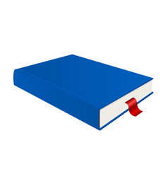 blue book with bookmark vector image