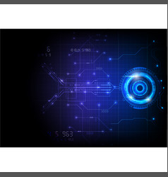 blue futuristic game circuit technology vector image