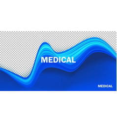 blue realistic fluid texture background vector image