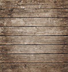 Brown vintage wooden planks background vector