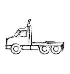 Cargo truck vehicle vector