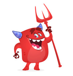 Cartoon funny devil vector