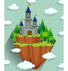Castle tower in the forest vector