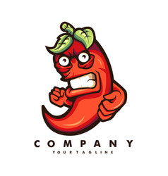 chili mascot vector image