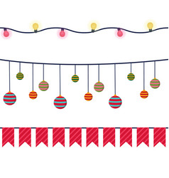 christmas banners garlands and decoration vector image