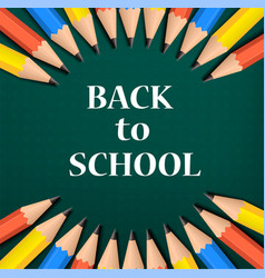 color back to school concept background realistic vector image