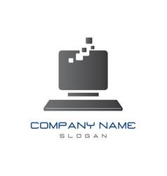 Computer logo vector