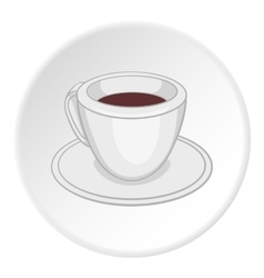 Cup of tea icon cartoon style vector image