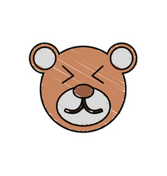 Cute bear drawing animal vector