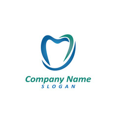 dentist logo 2 vector image