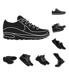 design of shoe and sport logo collection vector image