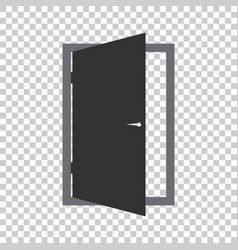 Door icon exit icon open door vector