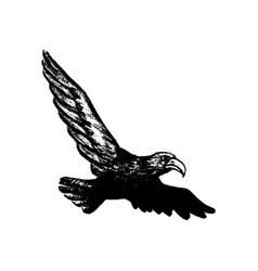 eagle grunge style icon vector image