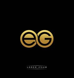 eg initial letter linked circle capital monogram vector image
