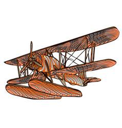 Ethnic water plane vector