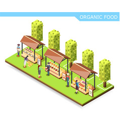 farm market organic food composition vector image