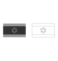 flag of israel it is icon vector image