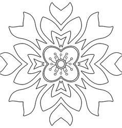 Floral ornament Coloring page vector image