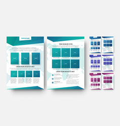 flyer template with abstract elements and world vector image