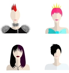four subcultures icons vector image