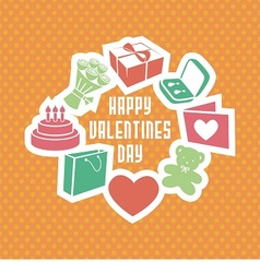 gift card consists of different elements vector image vector image