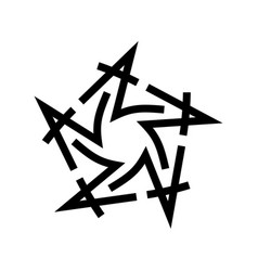 graphic star logo black star made vector image vector image