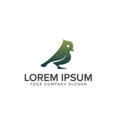 green bird logo design concept template vector image