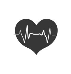 Heart shape pulse cardio medical health care icon vector