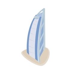Hotel Burj Al Arab icon isometric 3d style vector image