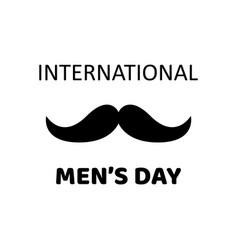 International mens day greeting card vector