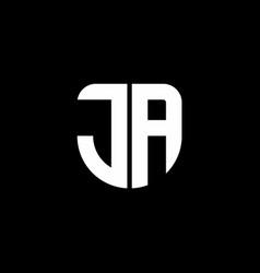ja logo monogram with circular shape shield vector image