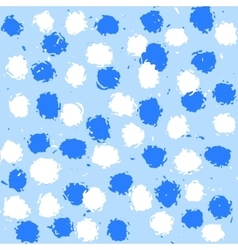 Light blue pattern with white and blue spots vector