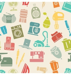 Light seamless pattern of home appliances vector image