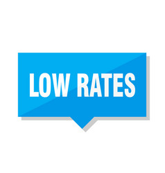 low rates price tag vector image