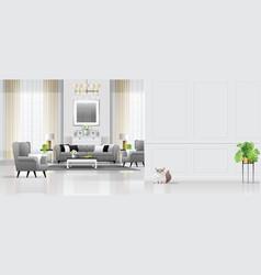 Luxury living room interior background vector