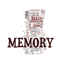 Memory and your health text background word cloud vector