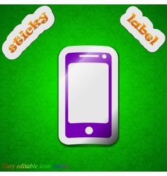 Mobile devices icon sign Symbol chic colored vector image