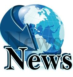 news globe vector image