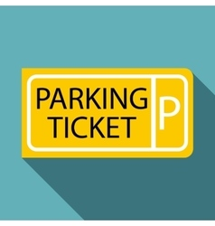 Parking ticket icon flat style vector image