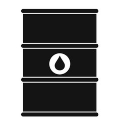 petrol barrel icon simple style vector image